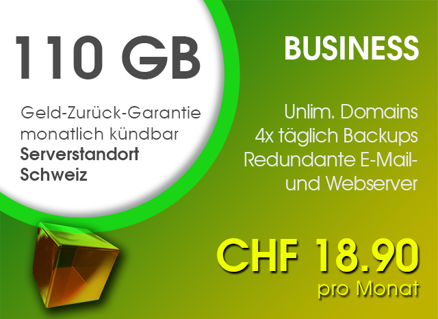 Business Webhosting Paket